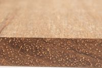 Angélique (Dicorynia guianensis): Querschnitt und tangentiale Oberfläche (natürliche Größe)